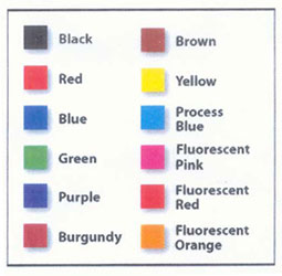 PSI Stamp Colour Chart